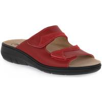 Schuhe Damen Pantoffel Emanuela 1242 ROSSO Rosso