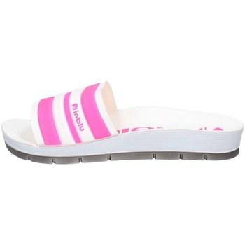 Schuhe Damen Pantoffel Inblu CP A25 WEISS UND FUCHSIA