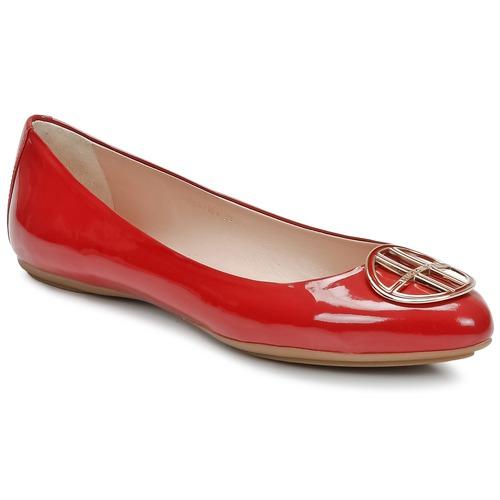 Schuhe Damen Ballerinas Hugo Boss Black LISETTE Rot