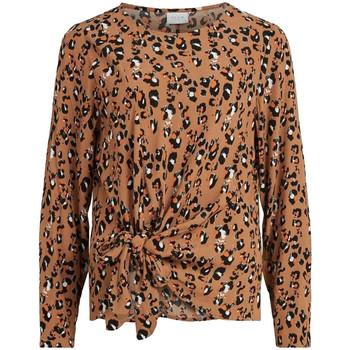 Kleidung Damen Tops / Blusen Vila 14063400 Braun