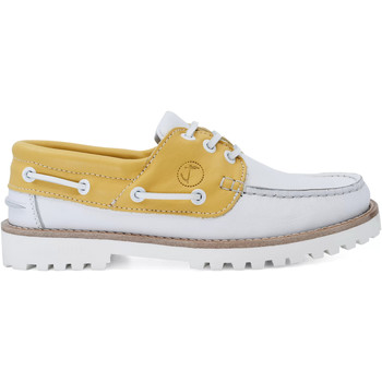 Schuhe Damen Bootsschuhe Seajure Bootsschuhe Quirimbas Gelb und Weiß