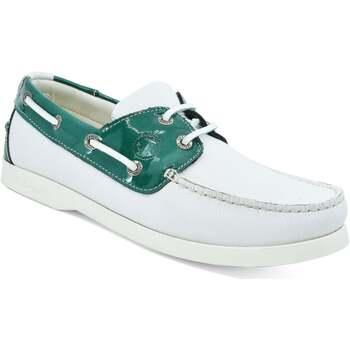 Schuhe Damen Bootsschuhe Seajure Bootsschuhe Gidaki Grün und Weiß
