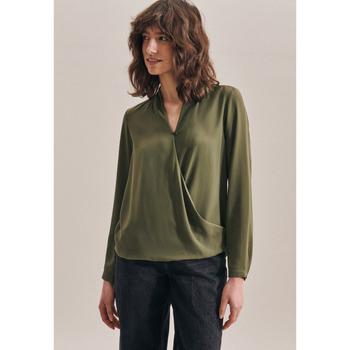 Kleidung Damen Tops / Blusen Seidensticker Schwarze Rose 60.122645 Grün