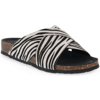 Schuhe Damen Pantoffel Bionatura CAVALLINO BIANCO Bianco