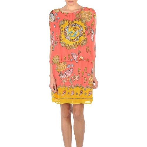 Kleidung Damen Kurze Kleider Derhy ACCORDABLE Rose / Gelb