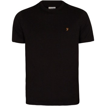 Kleidung Herren T-Shirts Farah Vintage Danny T-Shirt schwarz