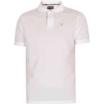 Kleidung Herren Polohemden Barbour Tartan Pique Poloshirt wei