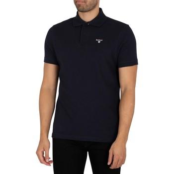 Kleidung Herren Polohemden Barbour Tartan Pique Poloshirt blau