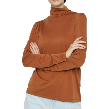 Kleidung Damen Langarmshirts Pieces 17106019 Braun