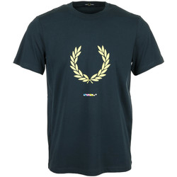 Kleidung Herren T-Shirts Fred Perry Print Registration T-Shirt Blau