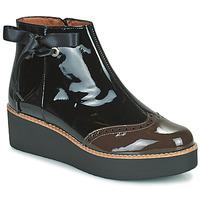 Schuhe Damen Boots Fericelli JANDICI Schwarz / Braun
