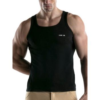Kleidung Herren Tops Code 22 Basic Code22 Tank Top Perlschwarz