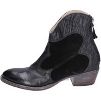 Schuhe Damen Low Boots Moma BH281 Schwarz