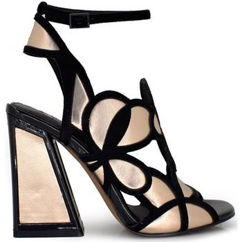 Schuhe Damen Sandalen / Sandaletten Exé Shoes Exe' DOMINIC-440 Sandalen Frau SCHWARZ / CHAMPAGNER SCHWARZ / CHAMPAGNER