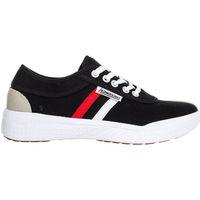 Schuhe Herren Sneaker Low Kawasaki FOOTWEAR - Leap retro canvas shoe - black Schwarz