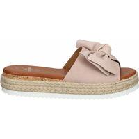 Schuhe Damen Pantoffel Sansibar Pantoletten Rosa