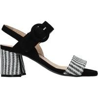 Schuhe Damen Sandalen / Sandaletten Carmens Padova 45107 Schwarz