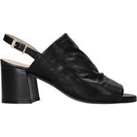 Schuhe Damen Sandalen / Sandaletten Carmens Padova 45416 Schwarz
