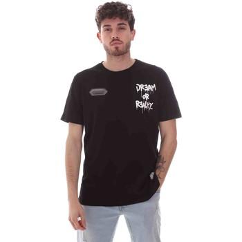 Kleidung Herren T-Shirts Disclaimer 21EDS50587 Schwarz