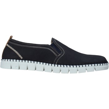 Schuhe Herren Slip on Rogers 2571-NOB Blau