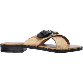 Schuhe Damen Pantoffel Alviero Martini E085 578A Braun