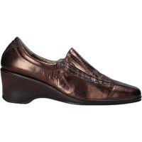 Schuhe Damen Slipper Confort 6309 Braun