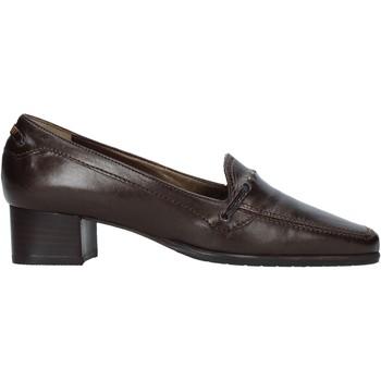Schuhe Damen Slipper Confort 6395 Braun