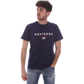 Kleidung Herren T-Shirts Navigare NV31139 Blau
