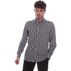 Kleidung Herren Langärmelige Hemden Antony Morato MMSL00614 FA430480 Schwarz