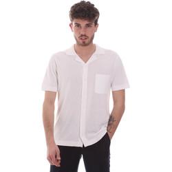 Kleidung Herren Kurzärmelige Hemden Antony Morato MMSW01183 YA100063 Weiß