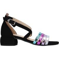 Schuhe Damen Sandalen / Sandaletten Carmens Padova 45060 Schwarz