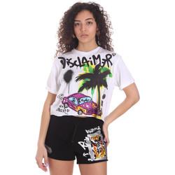 Kleidung Damen Shorts / Bermudas Disclaimer 21EDS50639 Weiß