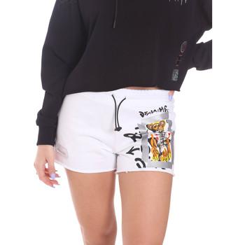 Kleidung Damen Shorts / Bermudas Disclaimer 21EDS50650 Weiß