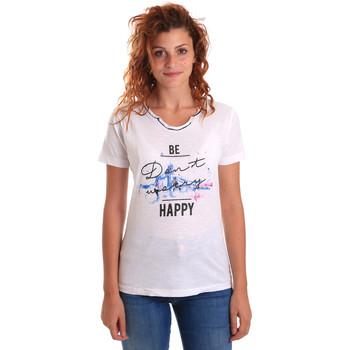 Kleidung Damen T-Shirts Key Up 5G63S 0001 Weiß