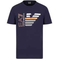 Kleidung Herren T-Shirts Ea7 Emporio Armani 3KPT22 PJ6EZ Blau