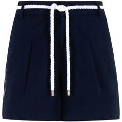 Kleidung Damen Shorts / Bermudas Ea7 Emporio Armani 3KTS54 TN3EZ Blau