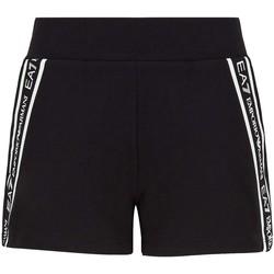 Kleidung Damen Shorts / Bermudas Ea7 Emporio Armani 3KTS59 TJ5FZ Schwarz