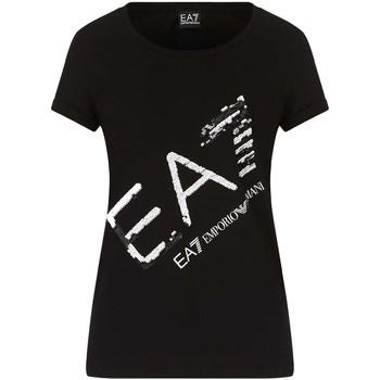 Kleidung Damen T-Shirts Ea7 Emporio Armani 3KTT28 TJ12Z Schwarz