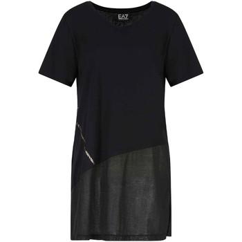 Kleidung Damen T-Shirts Ea7 Emporio Armani 3KTT36 TJ4PZ Schwarz