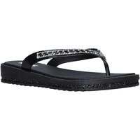 Schuhe Damen Zehensandalen Keys K-5000 Schwarz