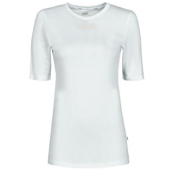 Kleidung Damen T-Shirts Puma MBASIC TEE Weiss