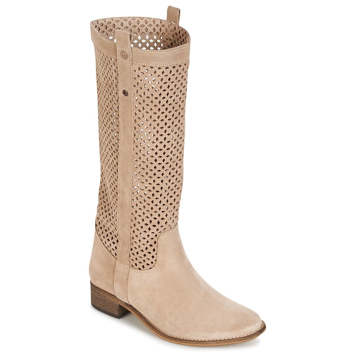 Betty London DIVOUI Beige - Kostenloser Versand bei Spartoode ! - Schuhe Klassische Stiefel Damen 67,99 €