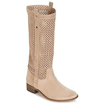 Schuhe Damen Klassische Stiefel Betty London DIVOUI Beige