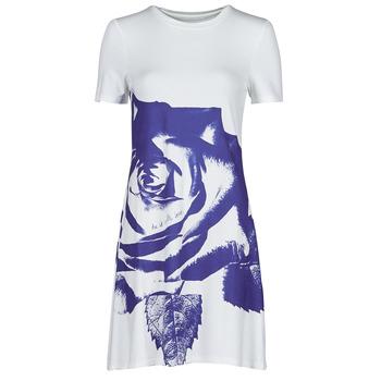 Kleidung Damen Kurze Kleider Desigual WASHINTONG Weiss / Blau