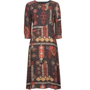 Kleidung Damen Maxikleider Desigual ALBURQUERQUE Multicolor