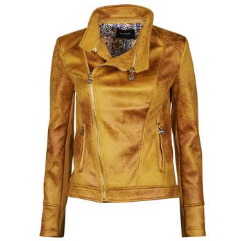 Kleidung Damen Lederjacken / Kunstlederjacken Desigual MARBLE Gelb