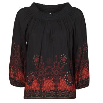 Kleidung Damen Tops / Blusen Desigual EIRE Schwarz / Rot