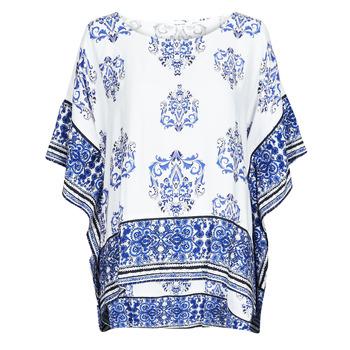 Kleidung Damen Tops / Blusen Desigual ANDES Weiss / Blau