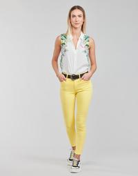 Kleidung Damen 5-Pocket-Hosen Desigual ALBA Gelb