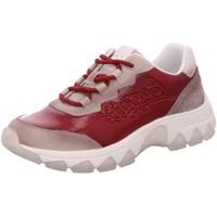 Schuhe Damen Sneaker Low Bugatti Schnuerschuhe 432952065458-5230 4 rot